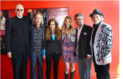 L-R  T Bone Burnett, Jim Lauderdale, Lisa Marie Presley, Elizabeth Cook, Americana Executive Director Jed Hilly, Buddy Miller