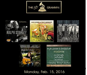 58th Grammy Bluegrass Album Nominees