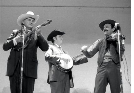 Tex Logan with Bill Monroe