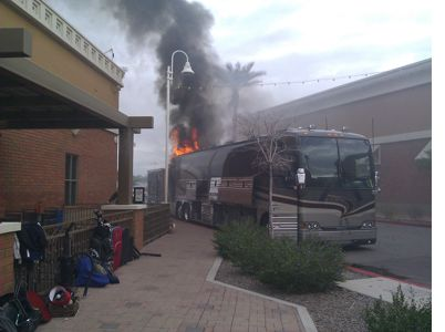 Lee Brice's bus burns in Isle of Palms, S.C.