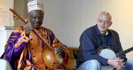 Cheick Hamala Diabate, Left and Sammy Shelor, Right. Photo Virginia Foundation for the Humanities