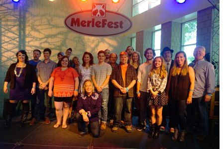 MerleFest 2016 congratulates the winners of the 24th Annual Chris Austin Songwriting Contest. Here the finalists are pictured with Jim Lauderdale and the judges of the contest. Photo by Jim Thompson.