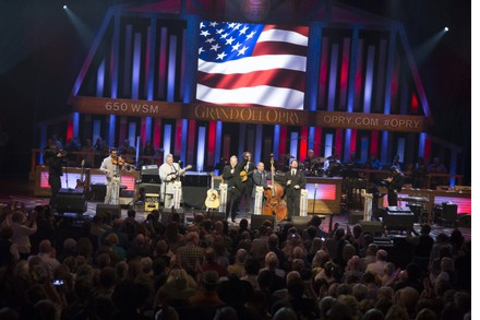Dailey & Vincent singing American Pride at the Grand Ole Opry on April 28, 2015. ©2015 Grand Ole Opry / Photo By: Chris Hollo