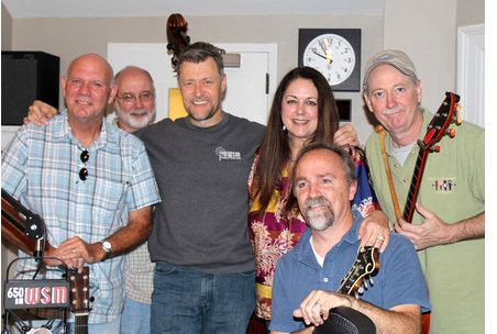 Rick Stanley, Bill Baldock, WSM radio host Bill Cody, Donna Ulisse, Greg Davis with Jon Martin kneeling