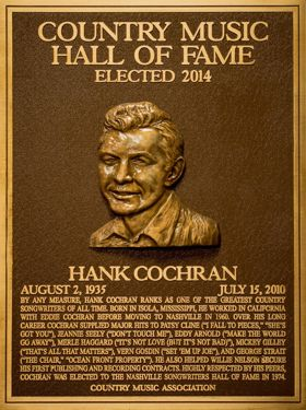 Hank Cochran Plaque