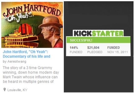 John Hartford Kickstarter Program