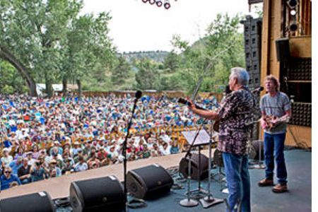 Del McCoury & Sam Bush at 2013 RockyGrass