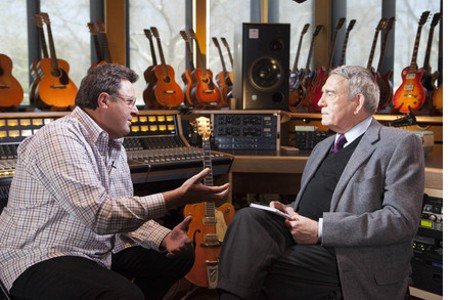 Vince Gill and Dan Rather