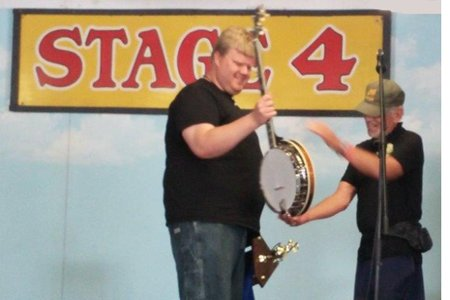 Steve Moore Receiving Banjo