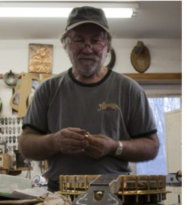 Luthier Wayne Henderson in his workshop in Mouth of Wilson, VA