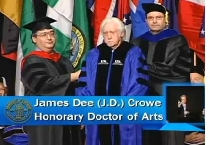 J.D. Crowe Receiving Honorary Doctorate