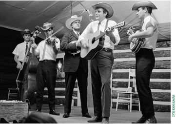 Peter Rowan with Bill Monroe and the Blue Grass Boys